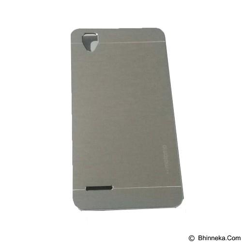 MOTOMO Metal Hardcase for Oppo F1 - Silver (Merchant) - Casing Handphone / Case