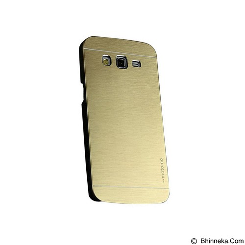 MOTOMO Metal Hardcase for Samsung Galaxy Grand Prime - Gold (Merchant) - Casing Handphone / Case