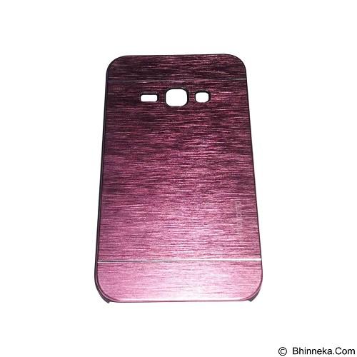 MOTOMO Metal Hardcase for Samsung Galaxy J1 (2016) - Pink (Merchant) - Casing Handphone / Case