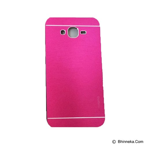 MOTOMO Metal Hardcase for Samsung Galaxy J5 - Pink (Merchant) - Casing Handphone / Case