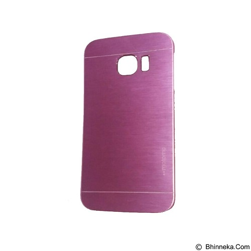 MOTOMO Metal Hardcase for Samsung Galaxy S6 Edge - Pink (Merchant) - Casing Handphone / Case