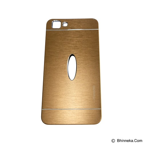MOTOMO Metal Hardcase for Vivo  Y35 - Gold (Merchant) - Casing Handphone / Case