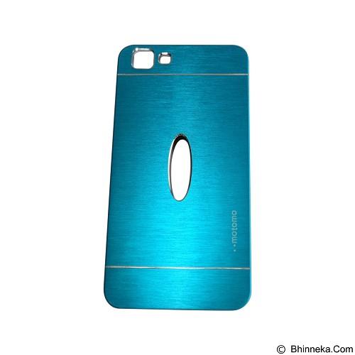 MOTOMO Metal Hardcase for Vivo  Y35 - Soft Blue (Merchant) - Casing Handphone / Case