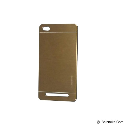MOTOMO Metal Hardcase for Xiaomi Redmi 3 - Gold (Merchant) - Casing Handphone / Case