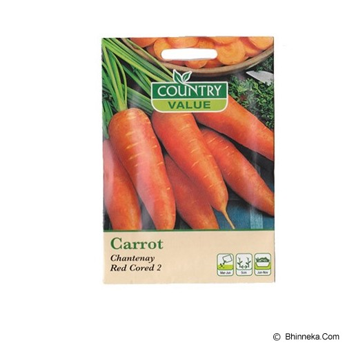 COUNTRY VALUE Carrot Chanteney Red Cored 2 - Bibit / Benih Sayuran