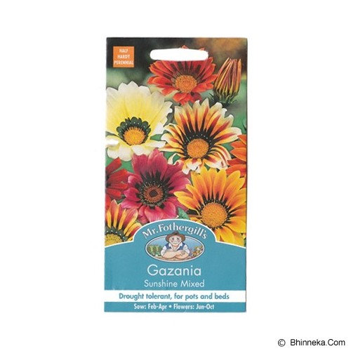 MR FOTHERGILLS Gazania Sunshine Mixed - Bibit / Benih Tanaman Hias