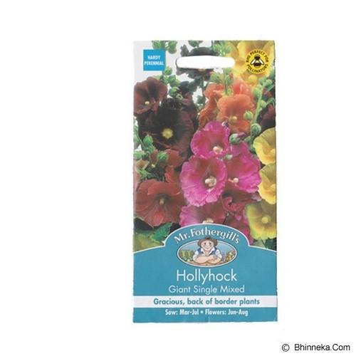 MR FOTHERGILLS Hollyhock Giant Single Mixed - Bibit / Benih Tanaman Hias