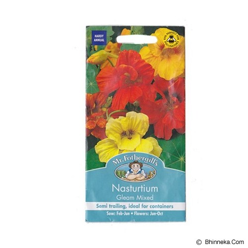 MR FOTHERGILLS Nasturtium Gleam Mixed - Bibit / Benih Tanaman Hias