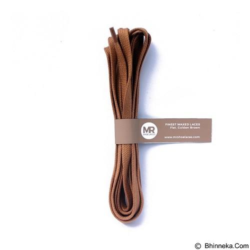MR SHOELACES Tali Sepatu Lilin Gepeng [FT09150] - Golden Brown (Merchant) - Tali Sepatu Pria