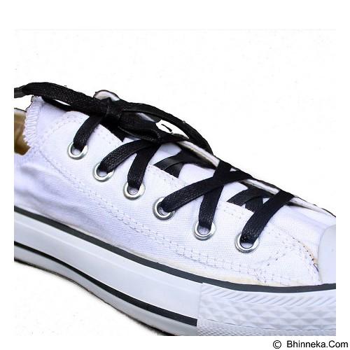 MR SHOELACES Tali Sepatu Lilin Gepeng [FT01130] - Black (Merchant) - Tali Sepatu Pria