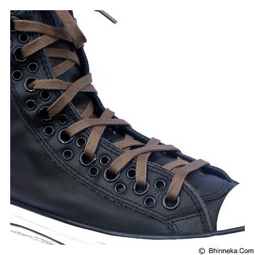 MR SHOELACES Tali Sepatu Lilin Gepeng [FT19100] - Wood Brown (Merchant) - Tali Sepatu Pria