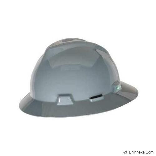 MSA V-Gard Fullbrim Safety Helmet - Grey - Helm Proyek / Safety Helmet