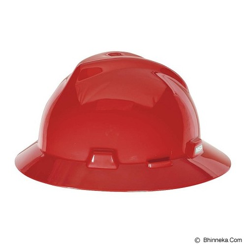 MSA V-Gard Fullbrim Safety Helmet - Red - Helm Proyek / Safety Helmet