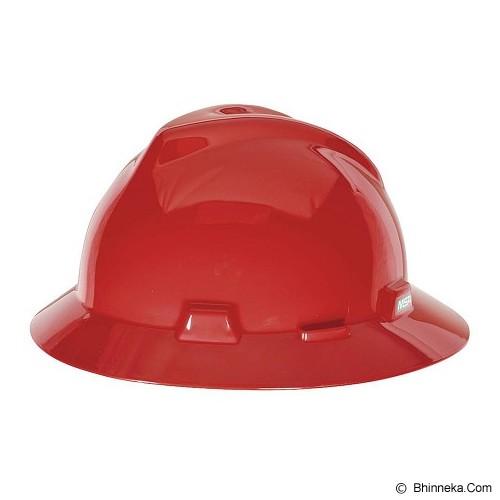MSA V-Gard Fullbrim Safety Helmet - Red - Helm Proyek / Safety Helmet