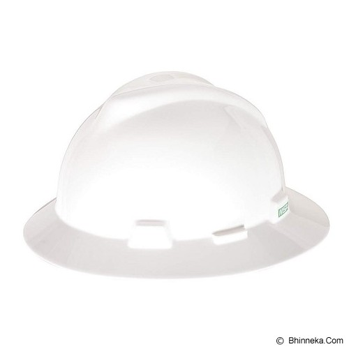 MSA V-Gard Fullbrim Safety Helmet - White - Helm Proyek / Safety Helmet