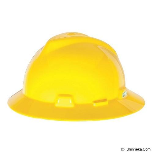 MSA V-Gard Fullbrim Safety Helmet - Yellow - Helm Proyek / Safety Helmet