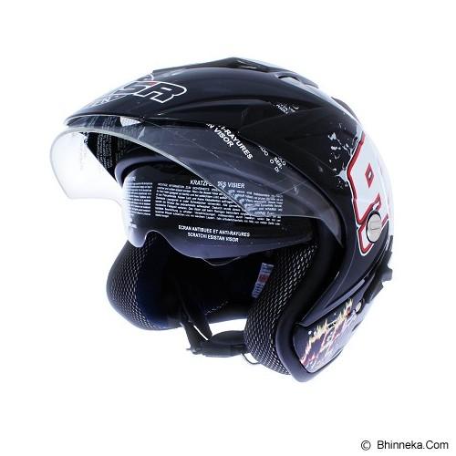 MSR Helmet Impressive Double Visor Size L [93] - Hitam - Helm Motor Half Face