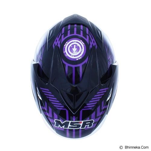 MSR Helmet Impressive Line Matrics Size XL - Black Violet - Helm Motor Half Face