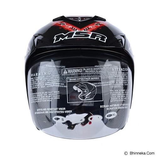 MSR Helmet Impressive Precious Size L - Hitam Merah - Helm Motor Half Face