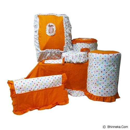 MUGUNGHWA Dinning Set Polkadot Color - Orange - Apron dan Taplak