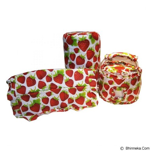 MUGUNGHWA GKM-Set-Strawberry Bright - Apron dan Taplak