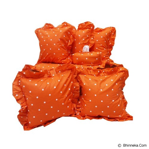 MUGUNGHWA Living Room Set Polka - Orange - Sarung Bantal
