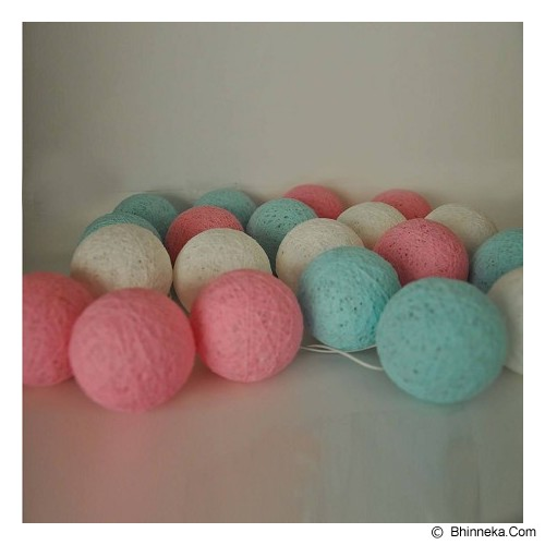 MY JADE! STUFF Cotton Ball Light - Aqua Pink - Lampu Gantung