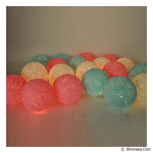 MY JADE! STUFF Cotton Ball Light - Aqua Pink - Lampu Gantung