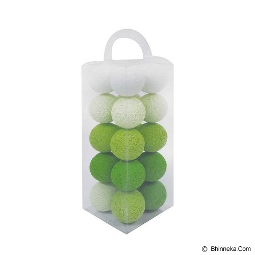 MY JADE! STUFF Cotton Ball Light - Green Tone - Lampu Gantung