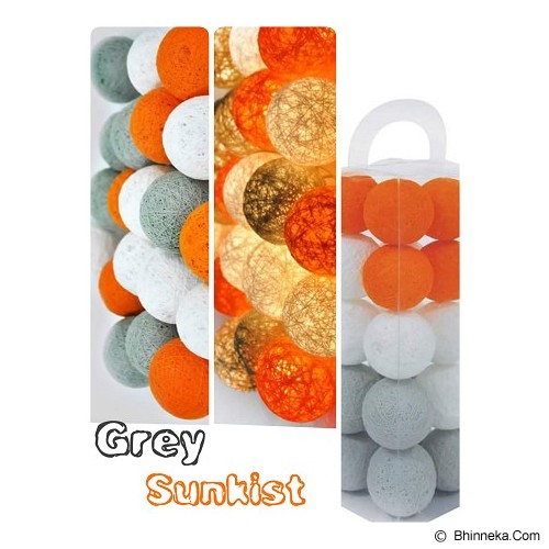 MY JADE! STUFF Cotton Ball Light - Grey Sunkist - Lampu Gantung