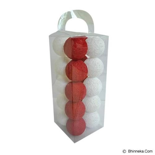 MY JADE! STUFF Cotton Ball Light - Red White - Lampu Gantung