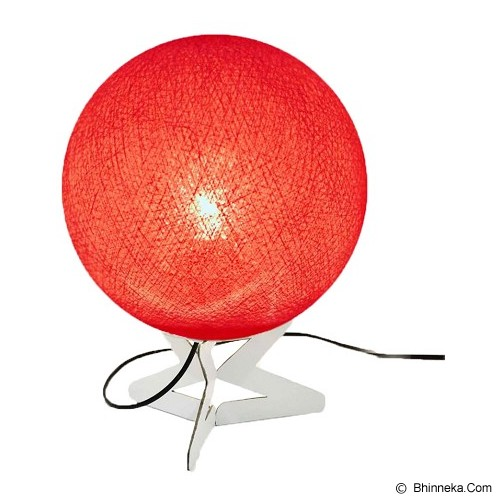 MY JADE! STUFF Cotton Table Lamp - Dark Red - Lampu Meja