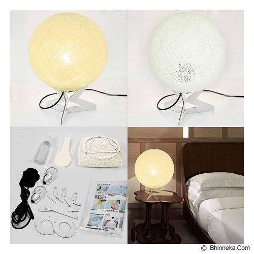 MY JADE! STUFF Cotton Table Lamp - Ivory - Lampu Meja