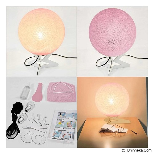 MY JADE! STUFF Cotton Table Lamp - Pale Pink - Lampu Meja