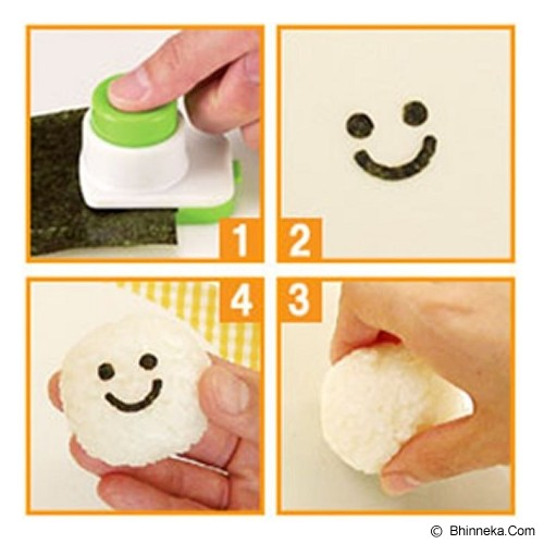 MYYTA19 Smiley Face Onigiri Ball Sushi Tool Set Roll Making Kit - Cetakan Kue