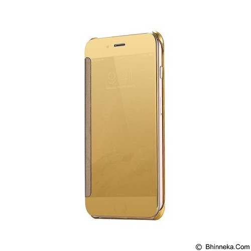 Mirror Wallet View Flip Cover Apple iPhone 5/5G - Gold (Merchant) - Casing Handphone / Case