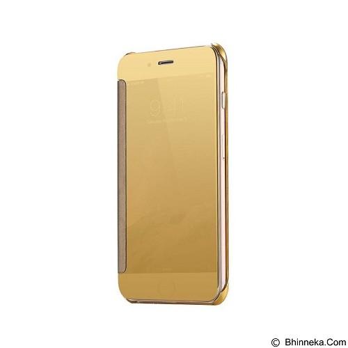 Mirror Wallet View Flip Cover Samsung Galaxy A9 Pro - Gold (Merchant) - Casing Handphone / Case