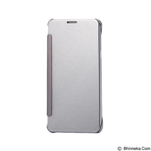 Mirror Wallet View Flip Cover Samsung Galaxy A9 Pro - Silver (Merchant) - Casing Handphone / Case