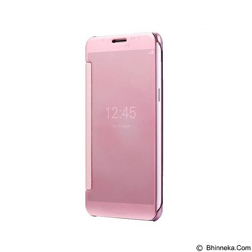 Mirror Wallet View Flip Cover Samsung Galaxy J7 - Rose Gold (Merchant) - Casing Handphone / Case
