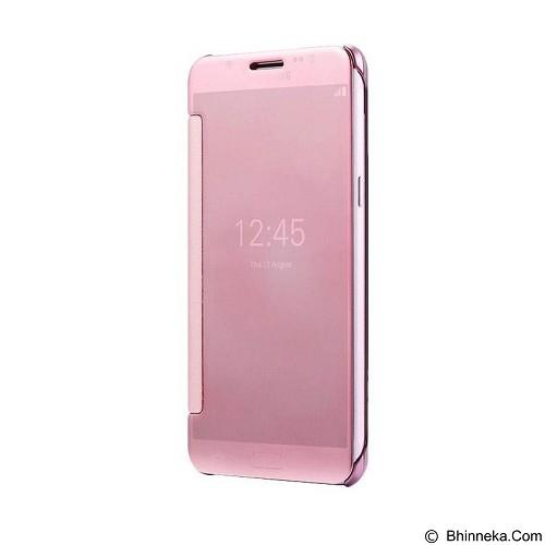 Mirror Wallet View Flip Cover Samsung Galaxy S6 Edge - Rose Gold (Merchant) - Casing Handphone / Case