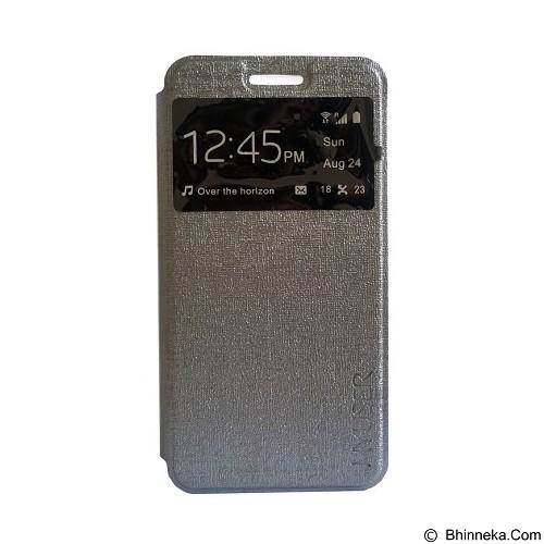 Myuser Flip Cover for Lenovo A6000 - Grey (Merchant) - Casing Handphone / Case