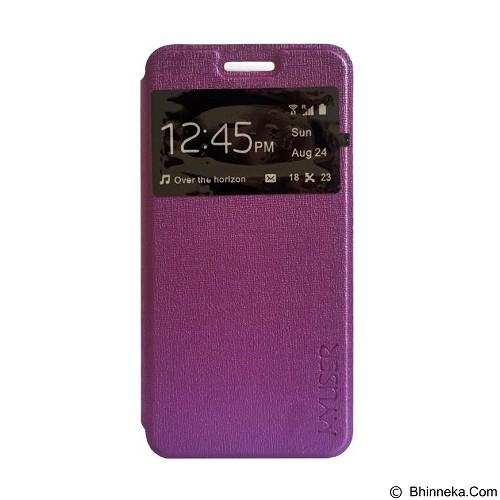Myuser Flip Cover Huawei 4 X - Purple (Merchant) - Casing Handphone / Case