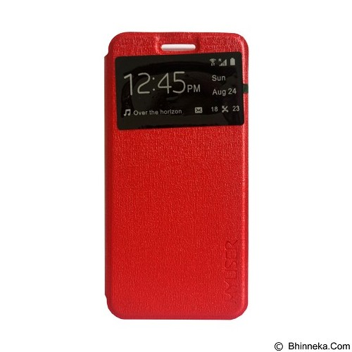 Myuser Flip Cover Huawei 4 X - Red (Merchant) - Casing Handphone / Case