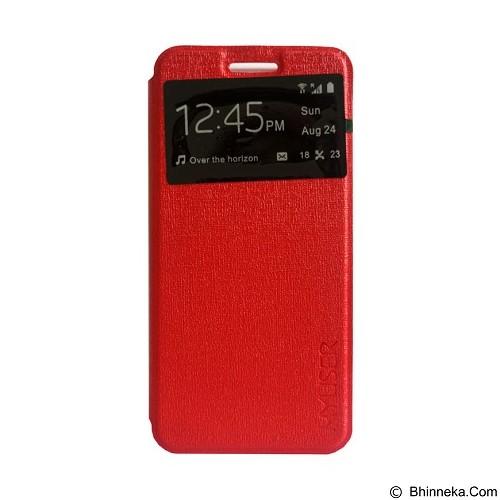 Myuser Flip Cover Sony Xperia M5 - Red (Merchant) - Casing Handphone / Case