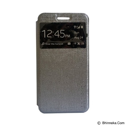 Myuser Flip Cover for Andromax EC - Grey (Merchant) - Casing Handphone / Case