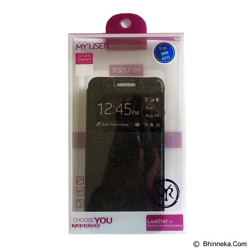 Myuser Flip Cover for Asus Zenfone 5 - Black (Merchant) - Casing Handphone / Case
