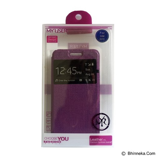 Myuser Flip Cover for Asus Zenfone 5 - Purple (Merchant) - Casing Handphone / Case