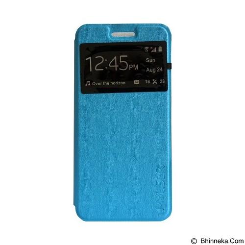 Myuser Flip Cover for Lenovo A6600 - Blue (Merchant) - Casing Handphone / Case