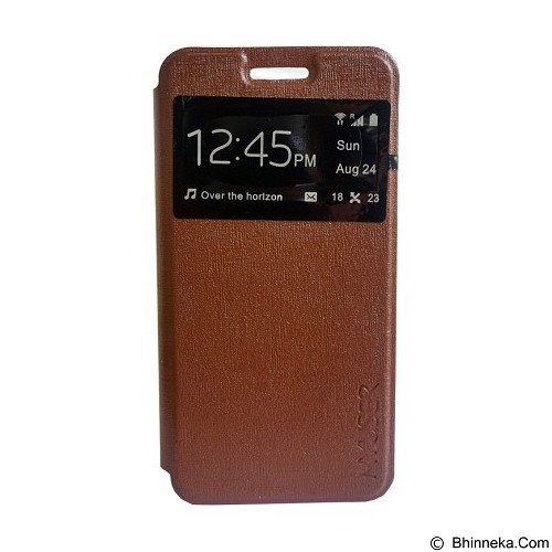 Myuser Flip Cover for Lenovo Vibe K4 Note A7010 - Brown (Merchant) - Casing Handphone / Case