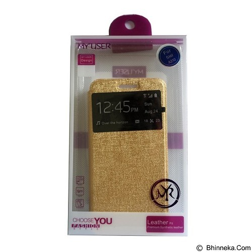 Myuser Flip Cover for Samsung Galaxy Grand Prime - Gold (Merchant) - Casing Handphone / Case